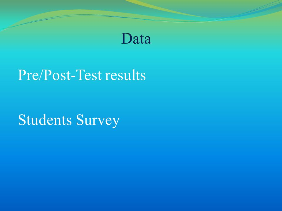 Pre/Post-Test results Students Survey