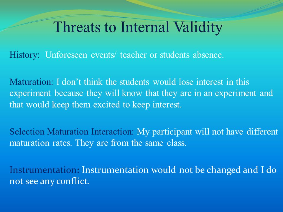 History: Unforeseen events/ teacher or students absence.