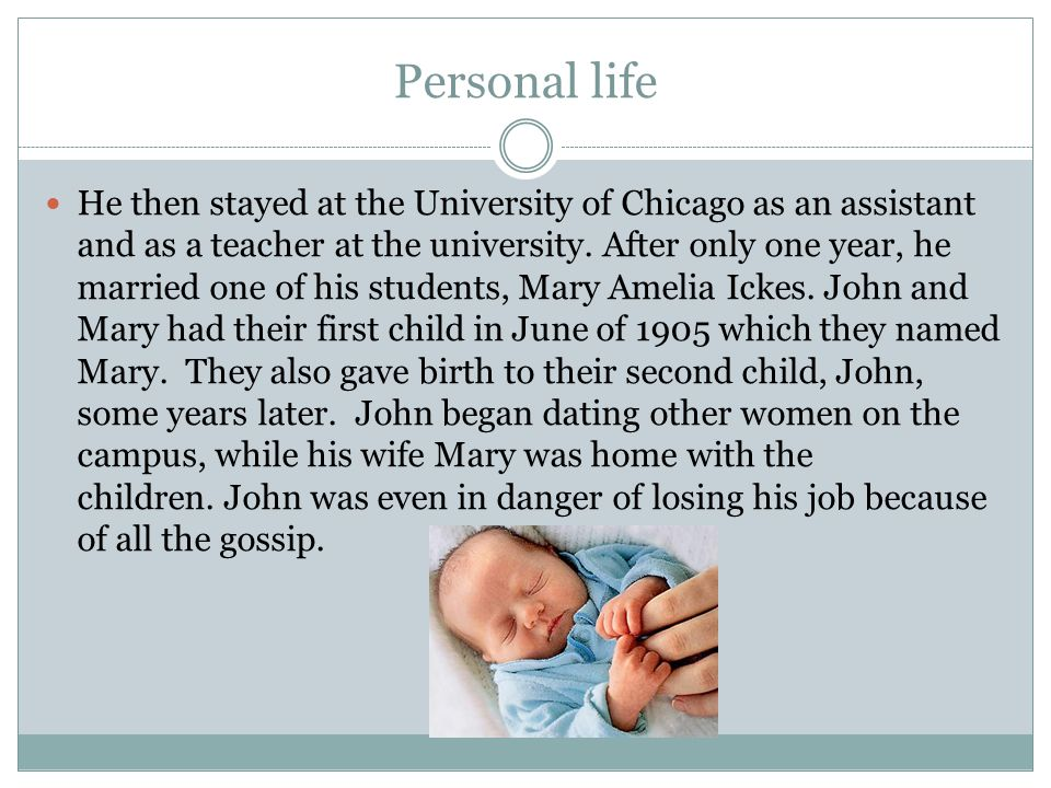 He left the university of Chicago and started working in John Hopkins university in Baltimore, Maryland.