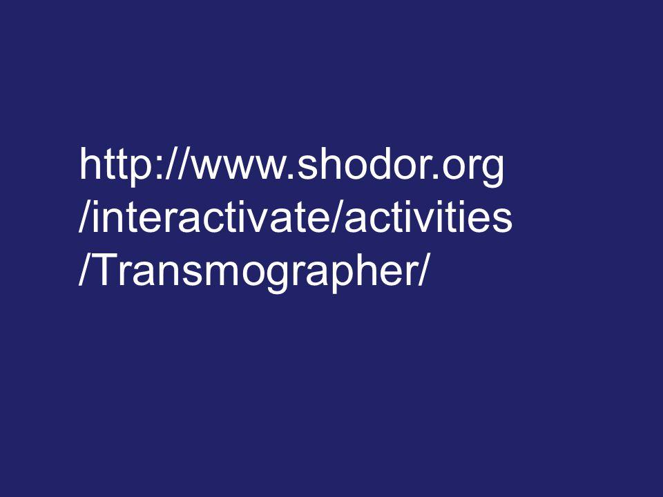 http://www.shodor.org /interactivate/activities /Transmographer/
