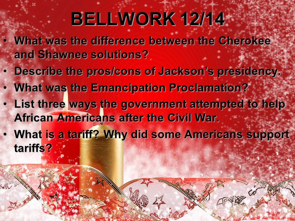 BELLWORK 12/14 What was the difference between the Cherokee and Shawnee solutions?What was the difference between the Cherokee and Shawnee solutions.