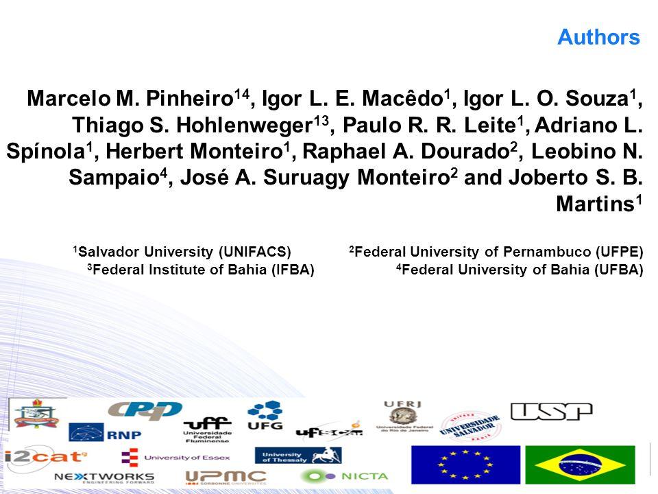 Authors Marcelo M. Pinheiro 14, Igor L. E. Macêdo 1, Igor L.