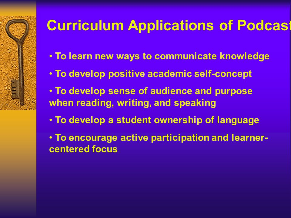 To learn new ways to communicate knowledge To develop positive academic self-concept To develop sense of audience and purpose when reading, writing, a