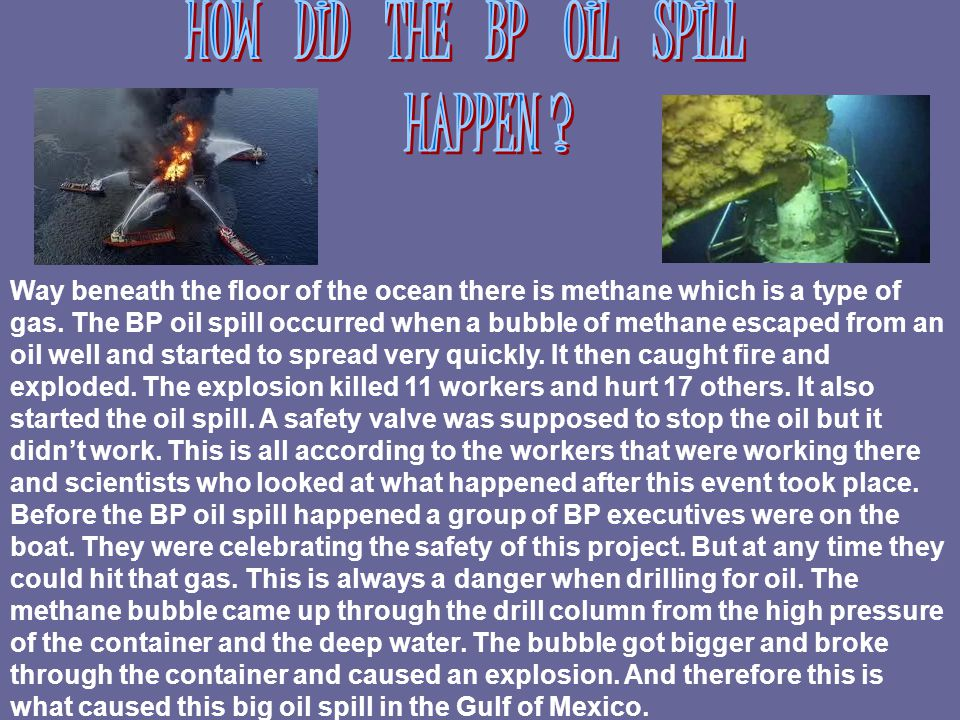 To help stop the oil spill people were trying to do many things.