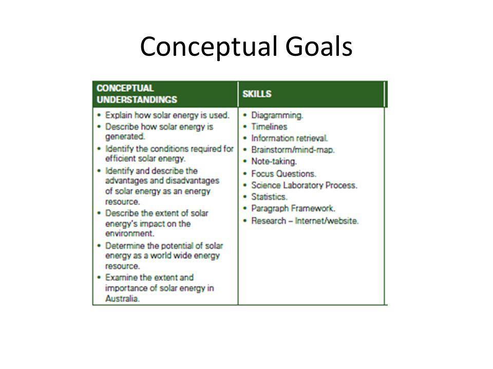 Conceptual Goals