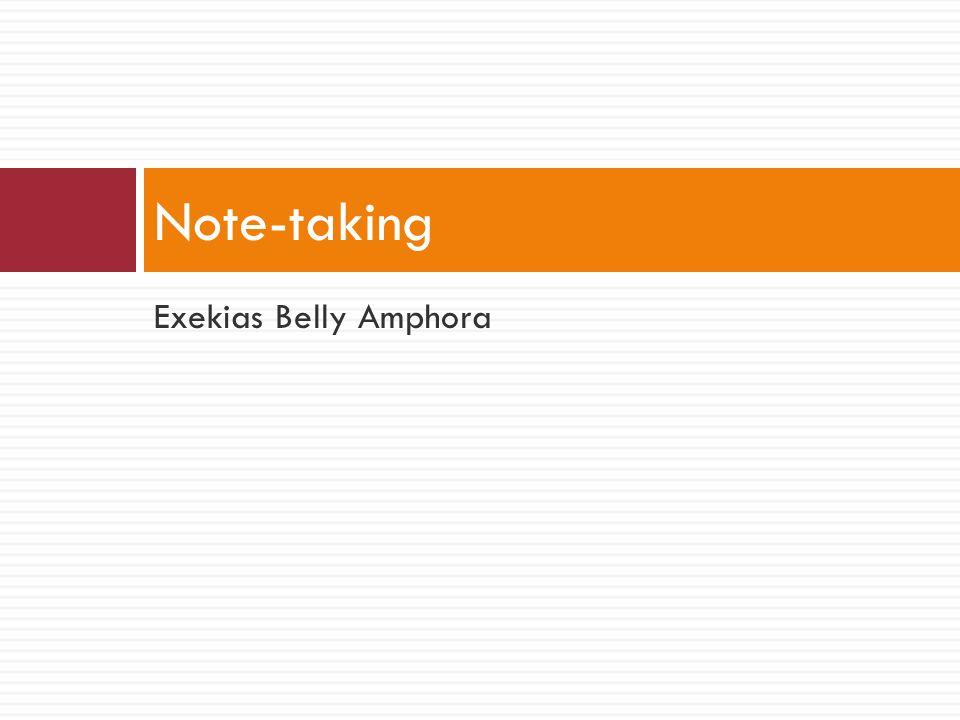 Exekias Belly Amphora Note-taking