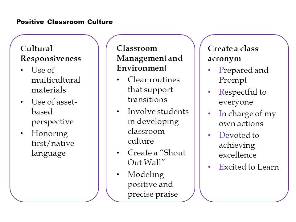 Invest your students with rationale for expectations RuleSample Rationale Be quiet when the teacher is talking.Side conversations distract classmates trying to learn and the teacher trying to teach.