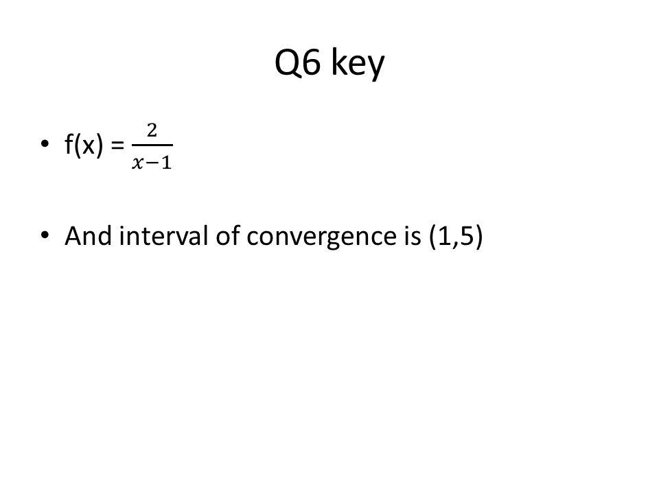 Q6 key