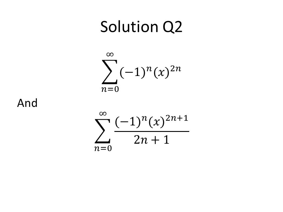 Solution Q2