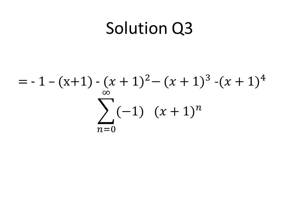 Solution Q3