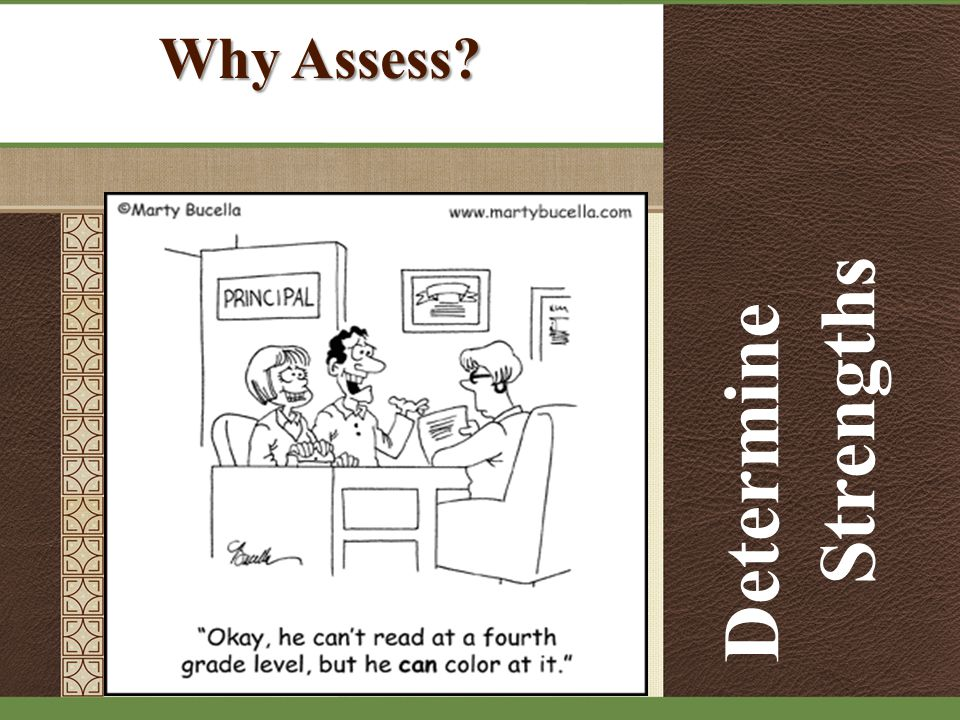 Why Assess Determine Strengths