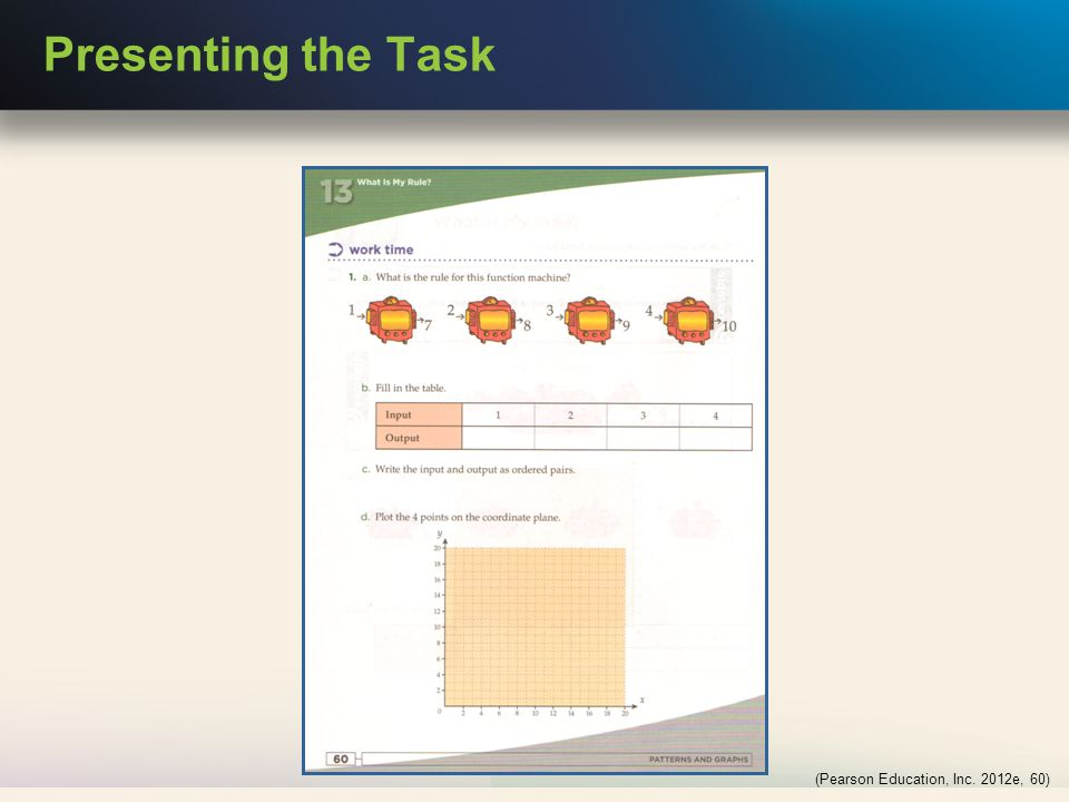 Presenting the Task (Pearson Education, Inc. 2012e, 60)