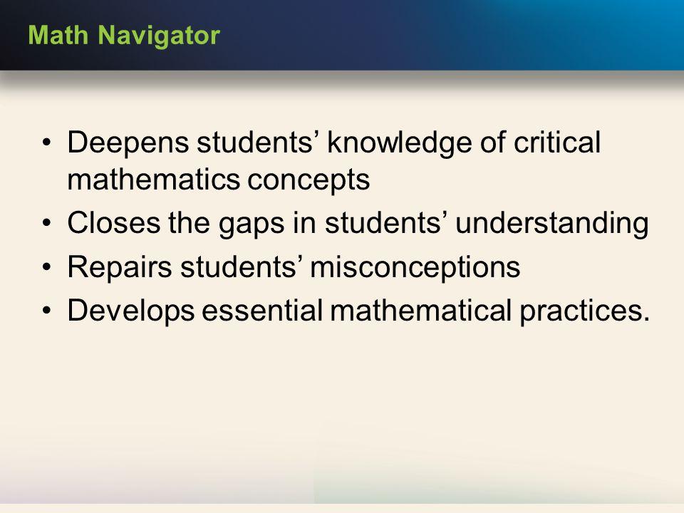 The Math Navigator Common Core Philosophy