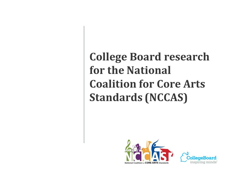 College-level Standards in the Arts Phase 2 Analysis of foundation-level college arts curricula surveying and interviewing college arts educators and administrators nationwide reviewing course descriptions and syllabi.
