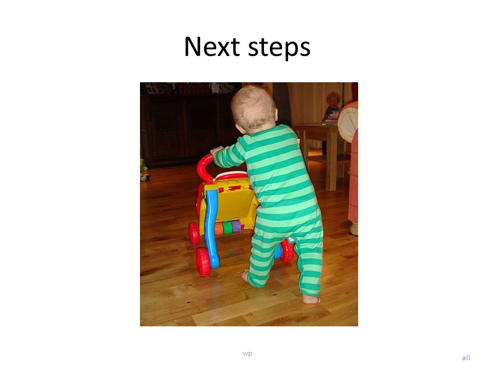 Next steps all wp
