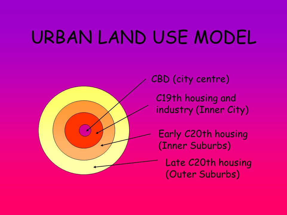 The 20 th C: The Outer Suburbs Edge of town location Irregular street pattern Lots of open space