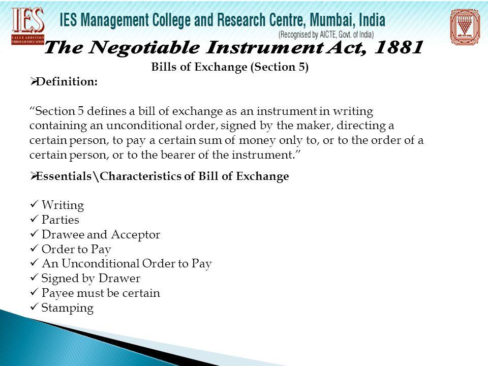 5 Types of Bills of Exchange Bill of exchange payable on demand Bill of exchange payable after date Inland bill of exchange Foreign bill of exchange Accommodation bill of exchange