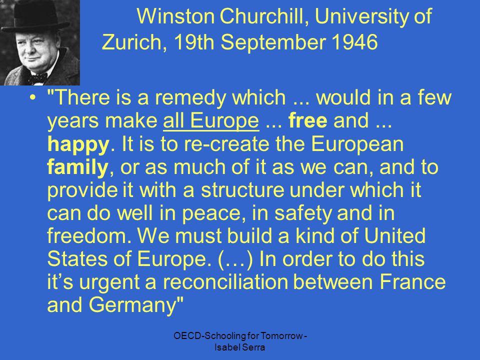 OECD-Schooling for Tomorrow - Isabel Serra Winston Churchill, University of Zurich, 19th September 1946