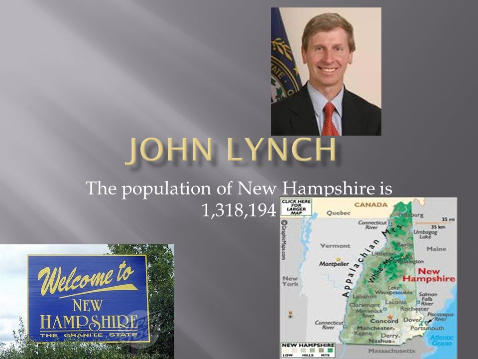 The population of New Hampshire is 1,318,194