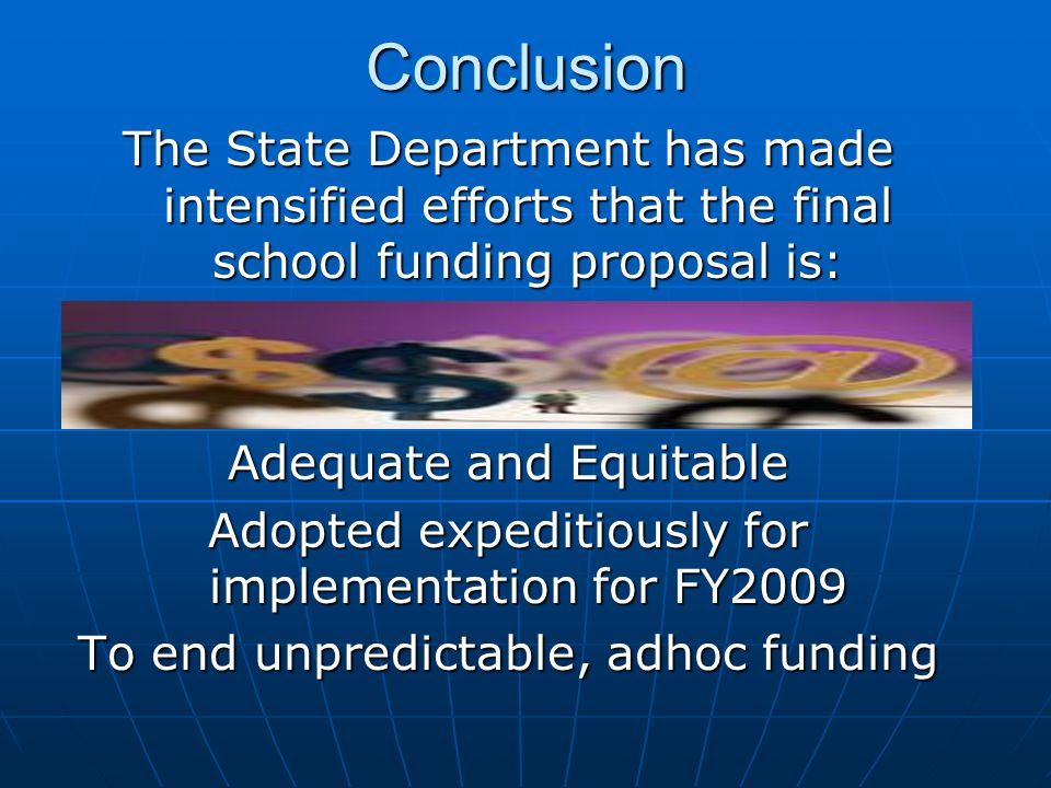 The School Funding Reform Act of 2008 Cons Cons Requires that some districts use part of their state aid reduce the communities property tax.Requires that some districts use part of their state aid reduce the communities property tax.