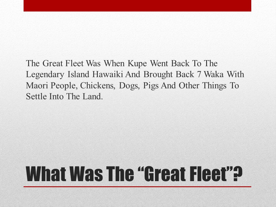 What Was The Great Fleet .