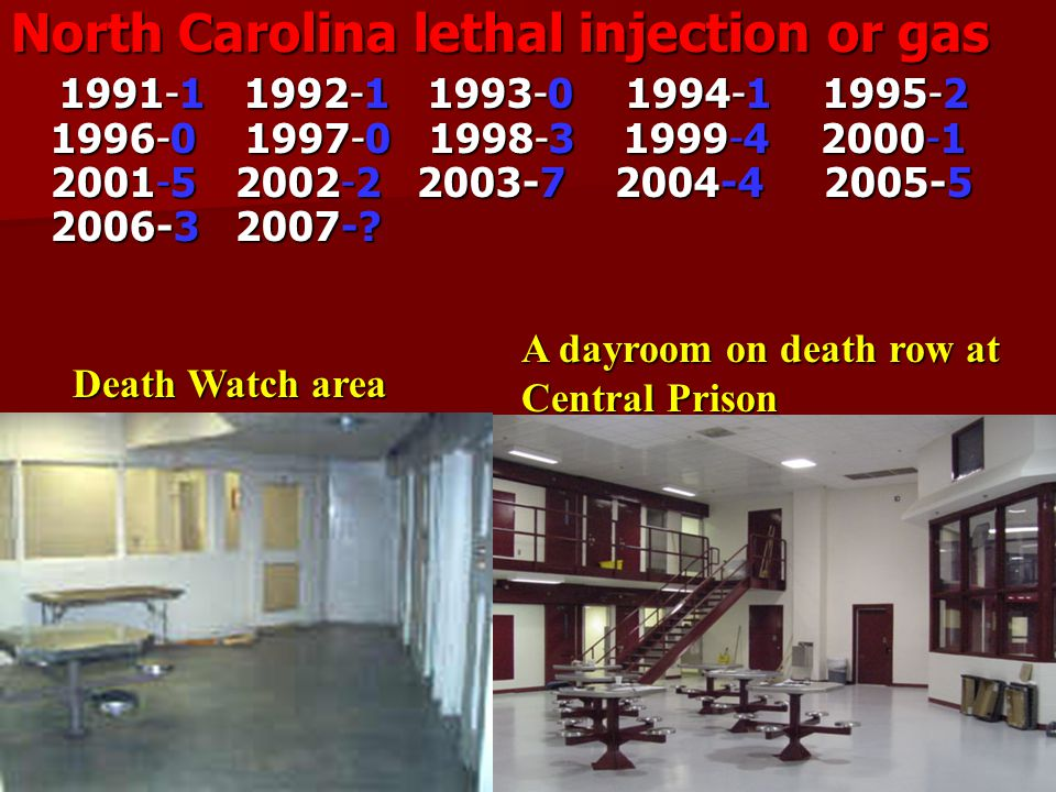 North Carolina and the Death Penalty North Carolina and the Death Penalty North Carolina allows the death penalty as an option in cases of first-degree murder.