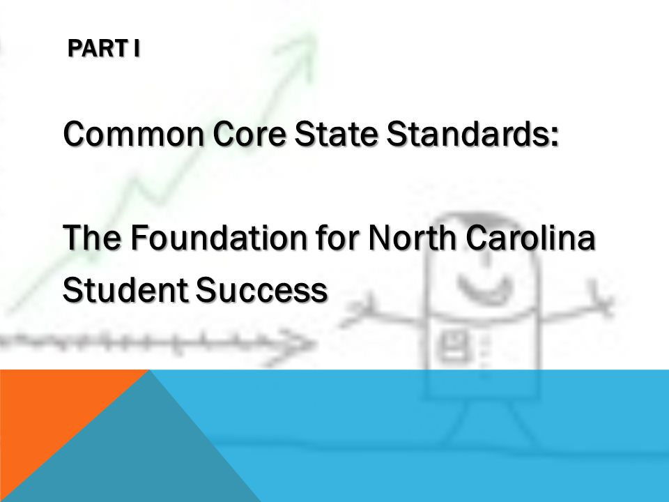 PART I Common Core State Standards: The Foundation for North Carolina Student Success