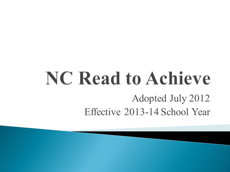 Adopted July 2012 Effective 2013-14 School Year