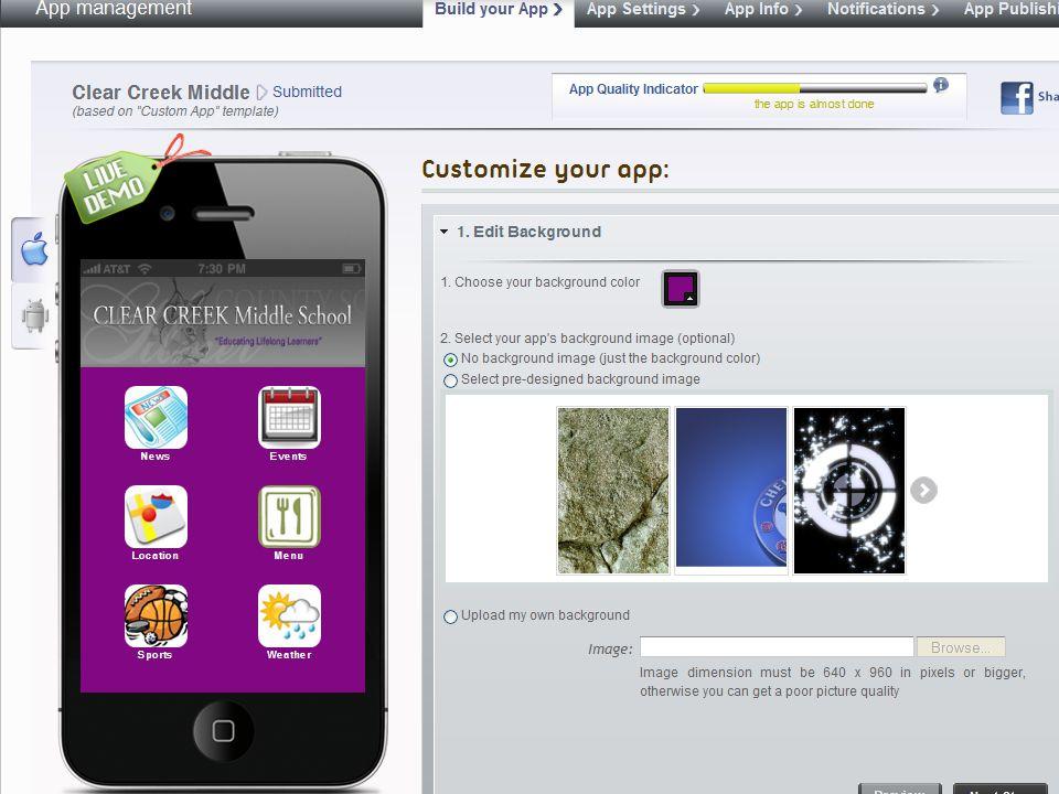 Other App Platforms… 1.http://ibuildapp.com 2. http://phonegap.com/ 3.