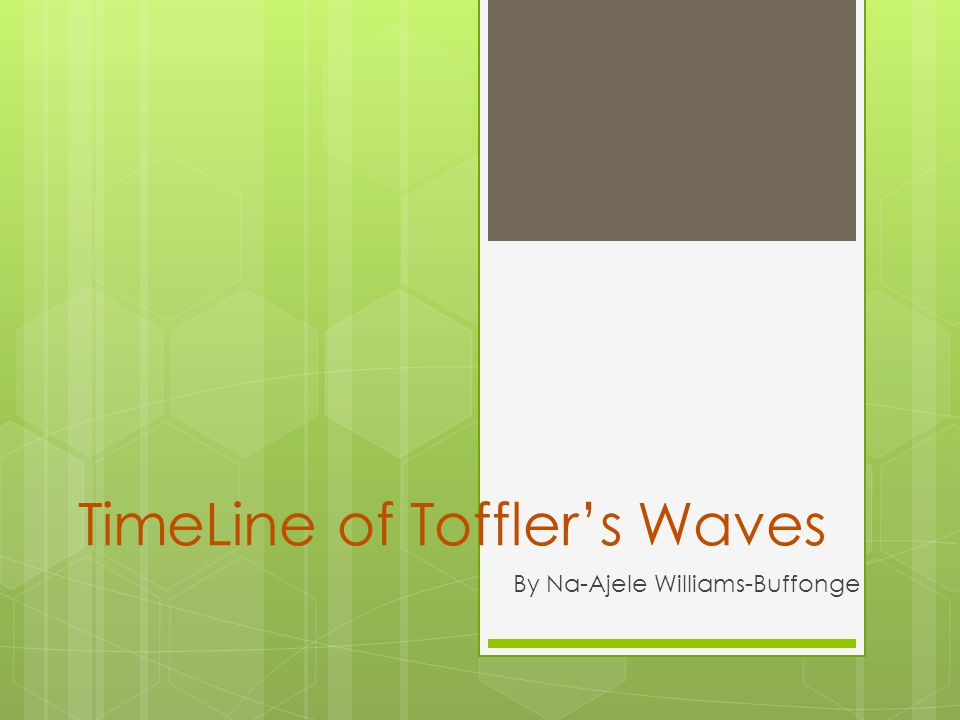 Time Line of the Waves