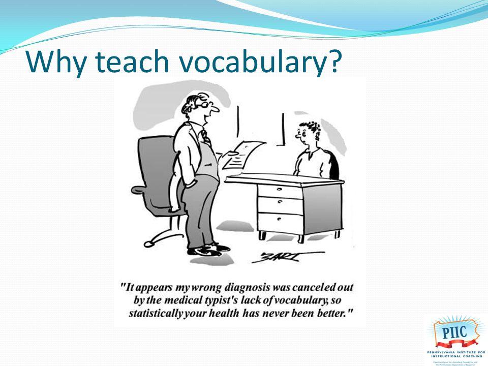 Why teach vocabulary?