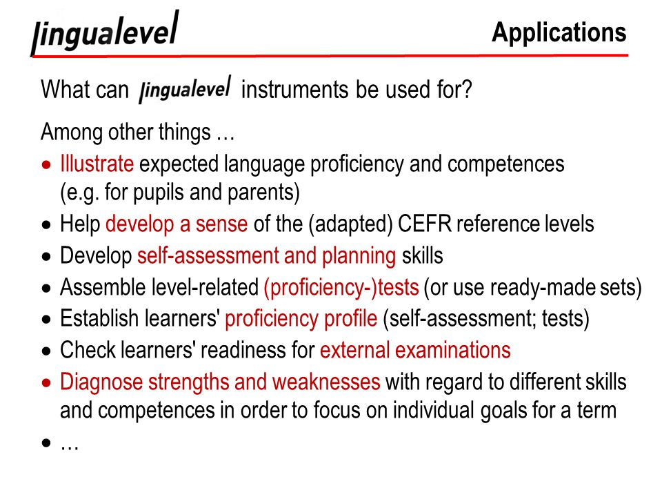 Applications What can instruments be used for.