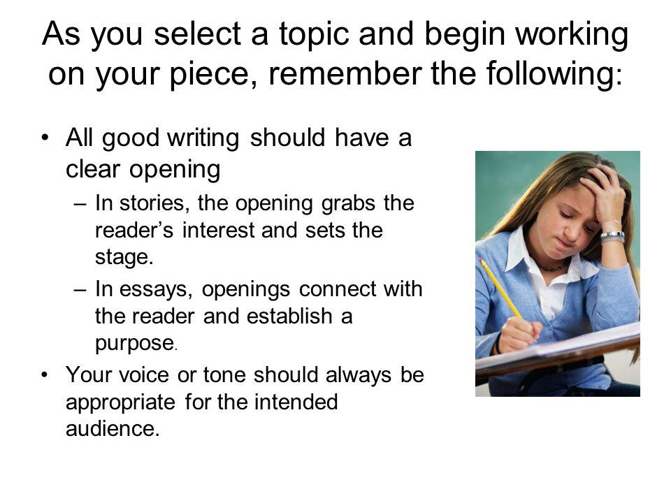 Next, good writing needs support.