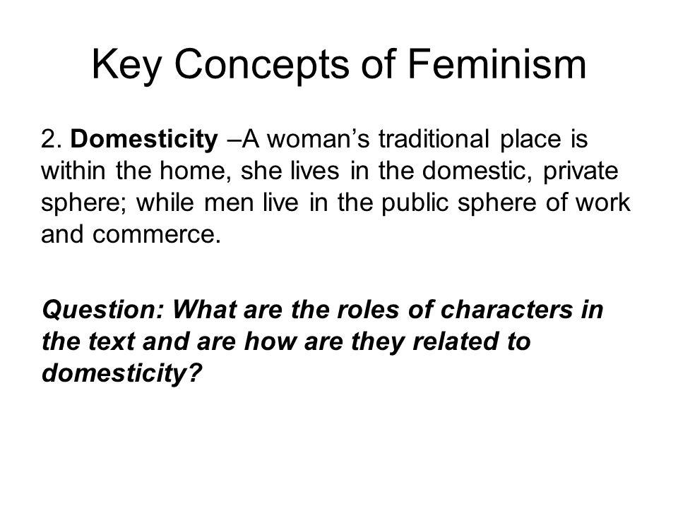 Key Concepts of Feminism 2.