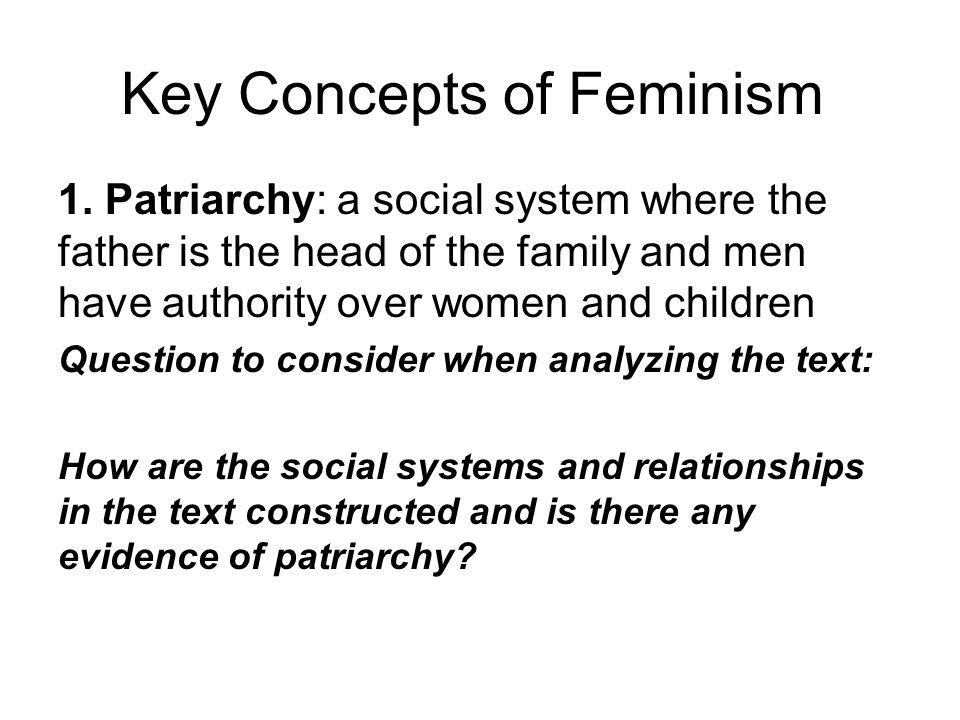 Key Concepts of Feminism 1.