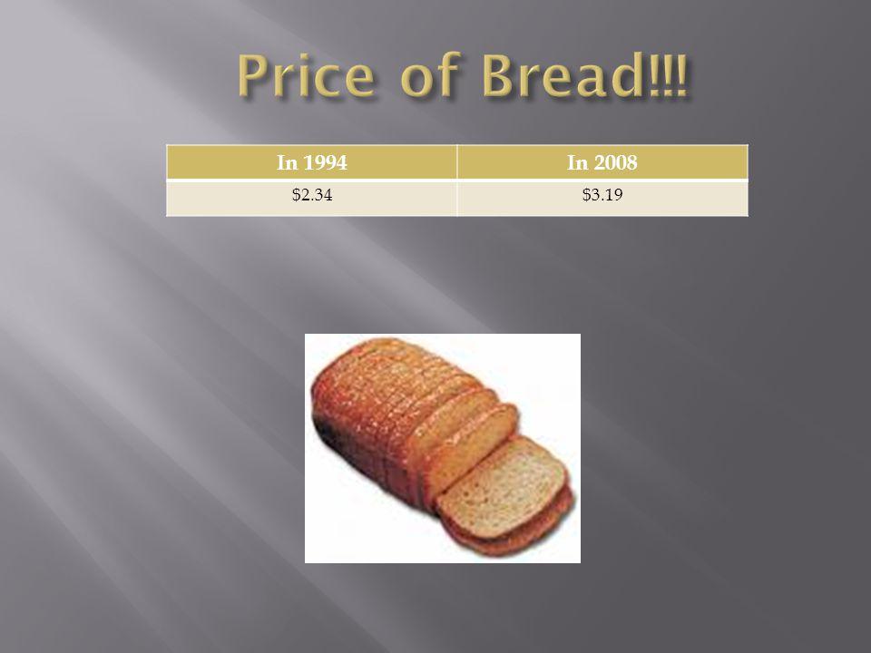 In 1994In 2008 $2.34$3.19