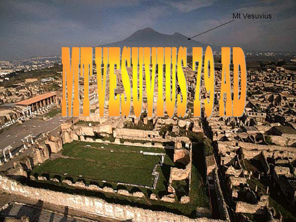 When Mt Vesuvius erupted ash fell on Pompeii and Herculaneum, covering everything including people.