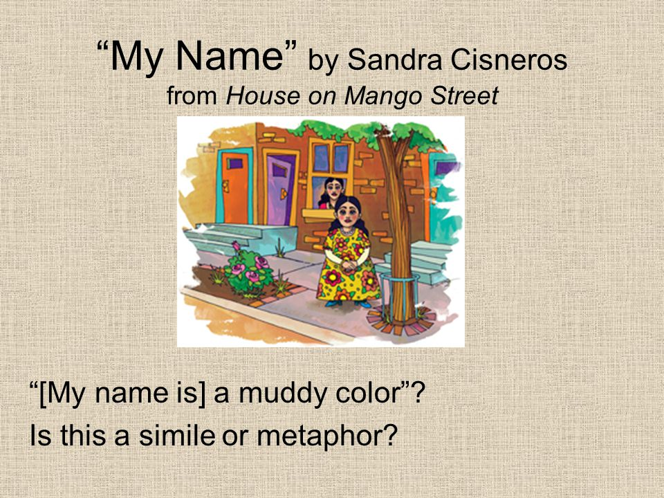 My Name by Sandra Cisneros from House on Mango Street What does Esperanza mean when she says her name is the Mexican records my father plays on Sunday mornings, songs like sobbing ?