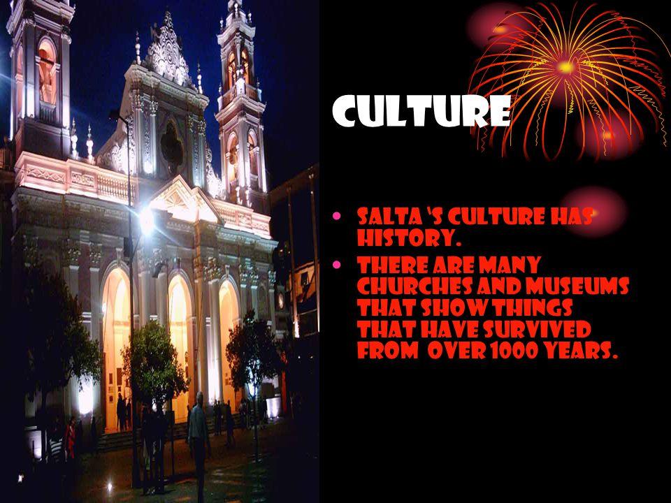 Culture Salta 's culture has history.