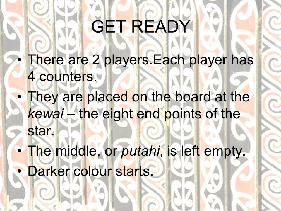 RULES 1.A player may move one counter to an empty space.
