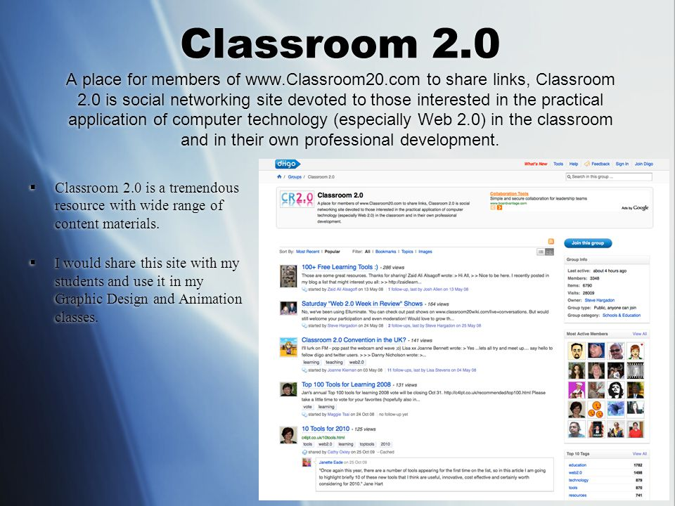 Classroom 2.0 link to Copyright friendly resources  With these links I could emphasize cyber laws to the students and teach them about cyber ethics.