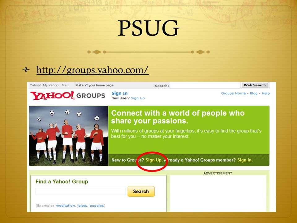 PSUG  http://groups.yahoo.com/
