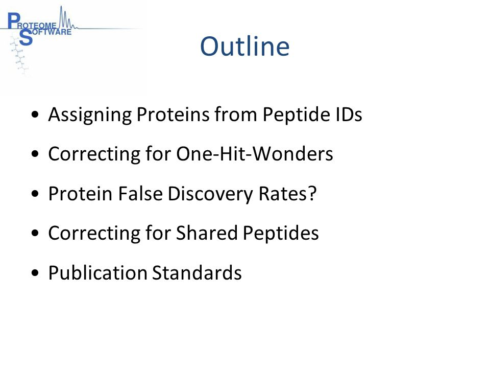 Combining different peptides Quantify as a score: If different peptides agree: Good.