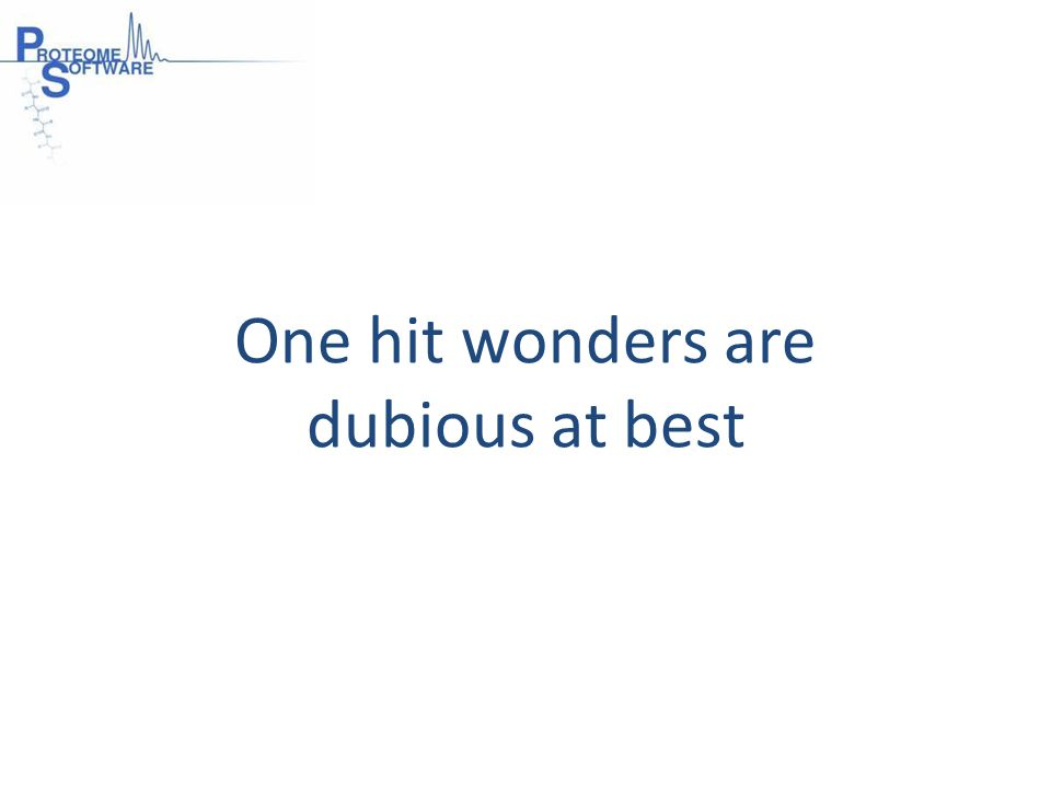 One hit wonders are dubious at best
