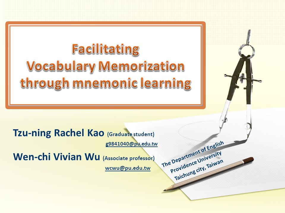 Vocabulary-memorization is one of the biggest problem in the process of learning English.