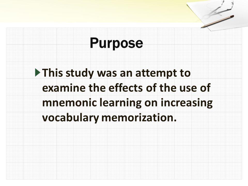 Word spelling Vocab. memorization