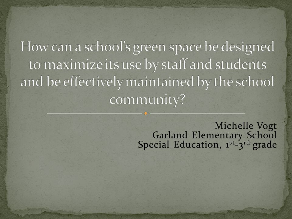 If you were designing an outdoor classroom, what would you put in it.