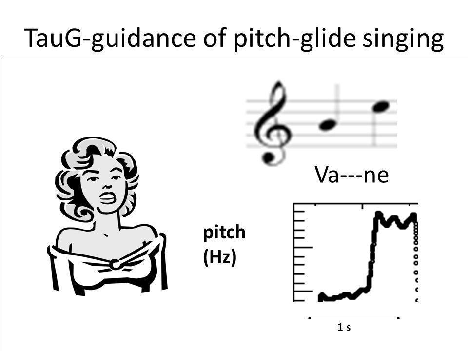 TauG-guidance of pitch-glide singing Va---ne 1 s pitch (Hz)