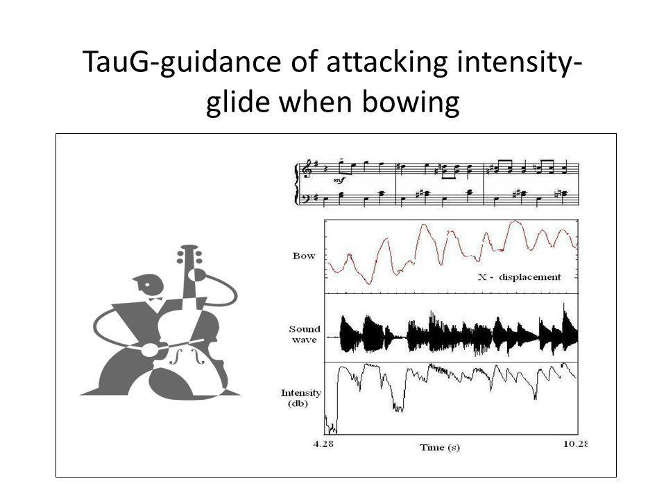 TauG-guidance of attacking intensity- glide when bowing