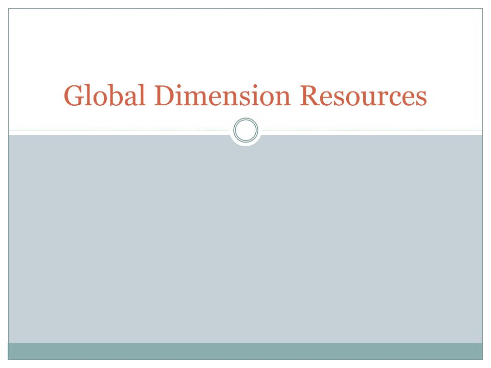 Global Dimension Resources
